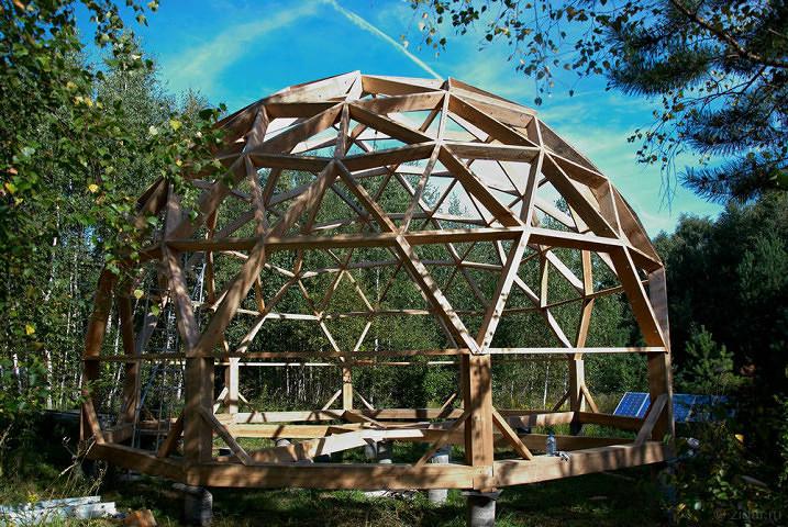 Геодезический сотовый купол своими руками 23