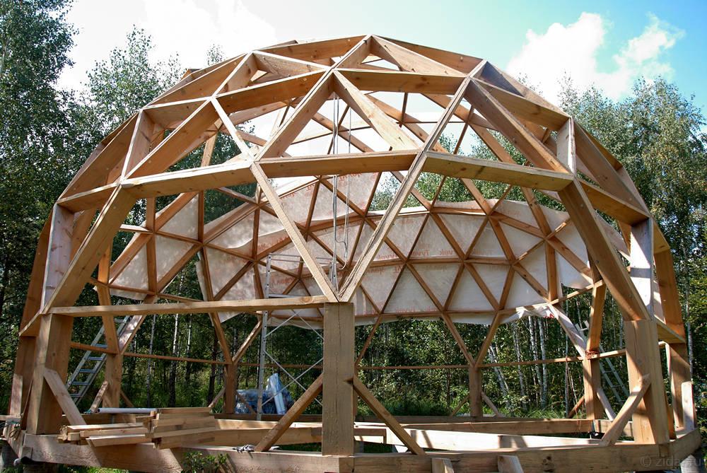 Как сделать круглую крышу дома