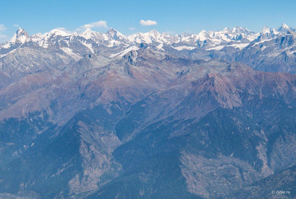Снежные вершины на горизонте