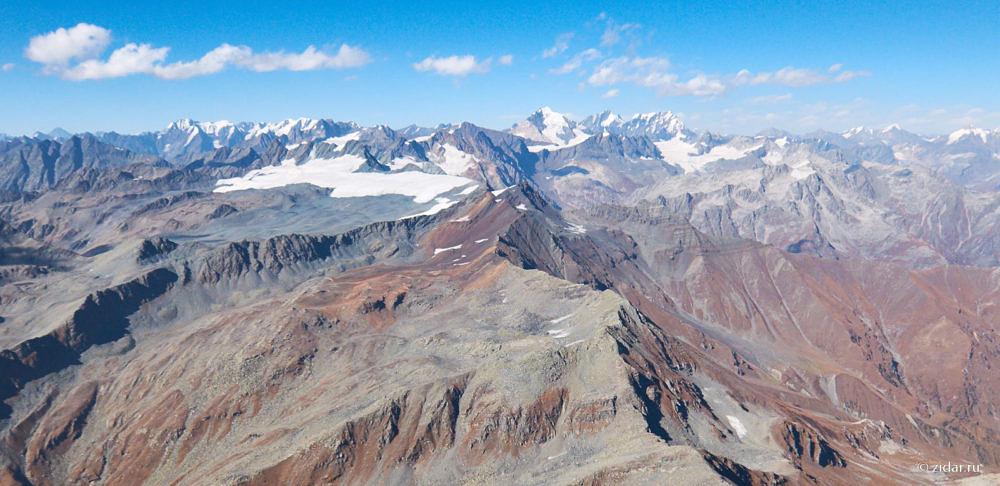 Панорама гор, вид на север
