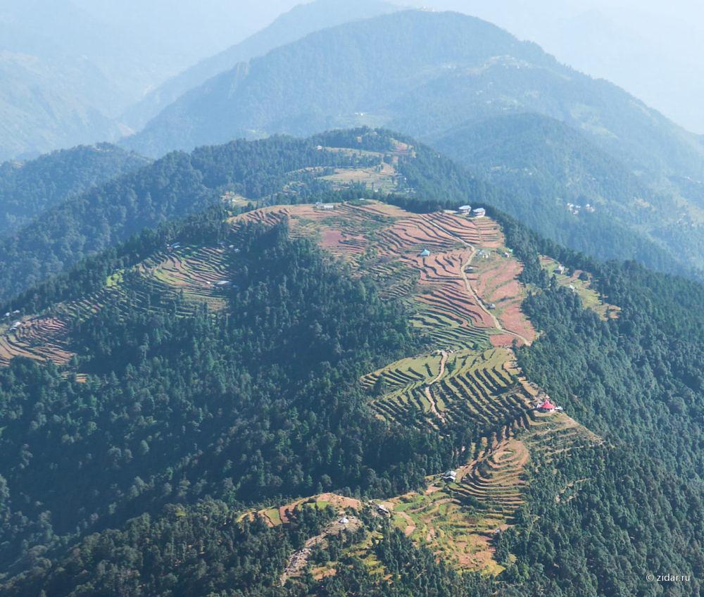 Вид с воздуха на чеки в районе точки 360