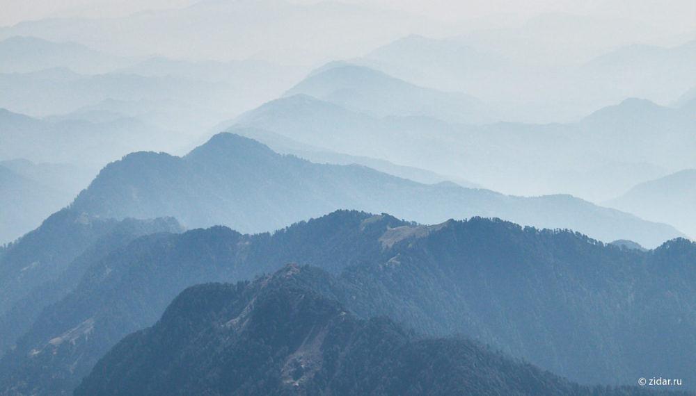 Взгляд на восток - долина закрыта инверсией