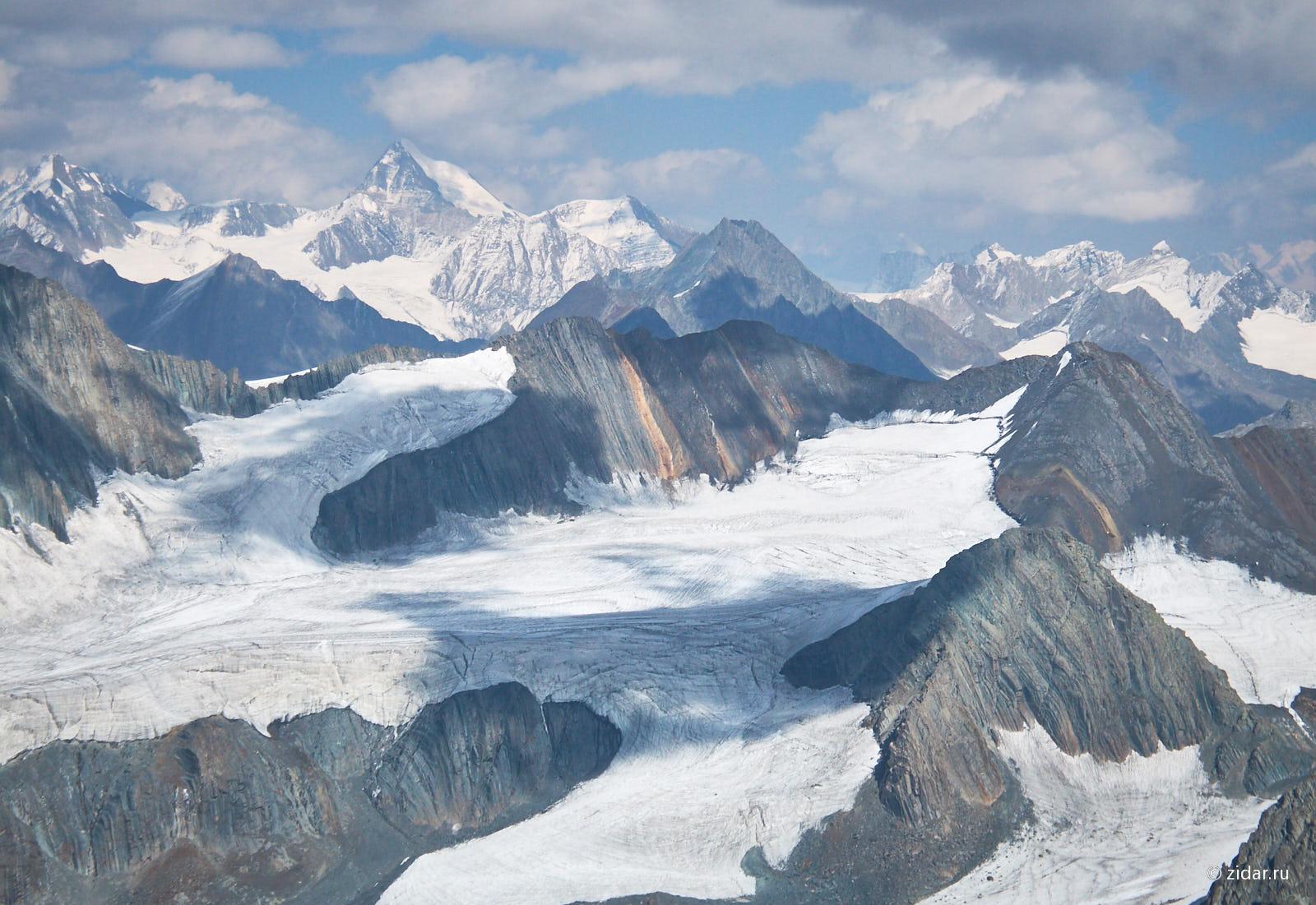 Вид на ледник